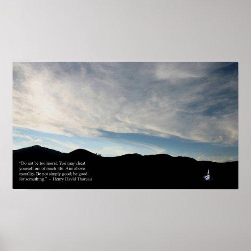 Thoreau Quote Wonalancet Mindscape Image Poster