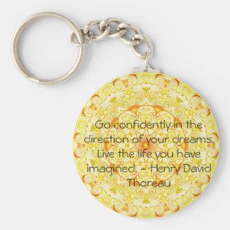Thoreau Quotre Key Chain