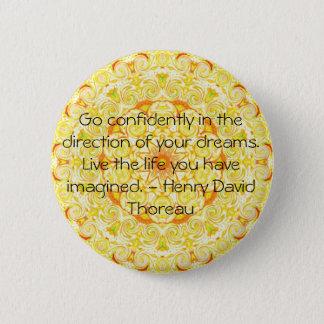 Thoreau Quotre Pinback Button