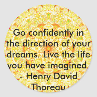 Thoreau Quotre Stickers