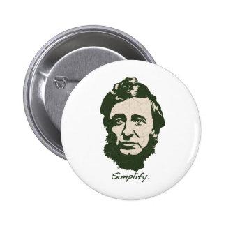 Thoreau - simplifique pin redondo de 2 pulgadas