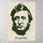 Thoreau - simplifique póster