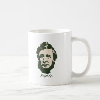 Thoreau - simplifique taza clásica