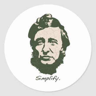 Thoreau - Simplify Classic Round Sticker