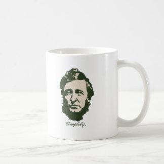Thoreau - Simplify Coffee Mug