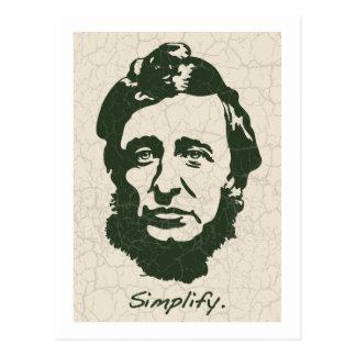 Thoreau - Simplify Postcard