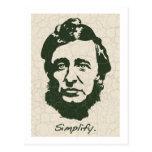 Thoreau - Simplify Postcards