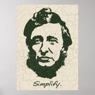 Thoreau - Simplify Print