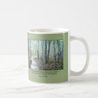 Thoreau: walk with love and reverence coffee mug
