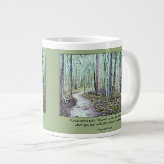 Thoreau: walk with love and reverence large coffee mug