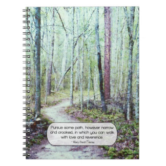 Thoreau walk with love and reverence note book
