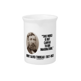 Thoreau World But Canvas To Our Imaginations Drink Pitcher