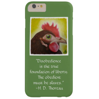 Thoreau's disobedience quote on a phone case