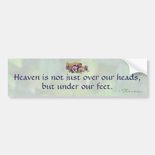 Thoreau's Heaven Car Bumper Sticker