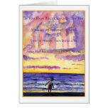 Thoreau's Sunset (Dark Text) Greeting Card