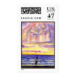 Thoreau's Sunset (Light Text) Stamp