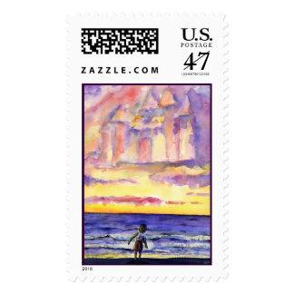 Thoreau's Sunset  Stamp
