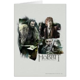 Thorin, Bilbo, and Gandalf Logo Cards
