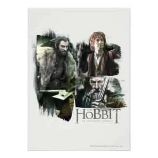 Thorin, Bilbo, and Gandalf Logo Personalized Announcements
