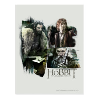 Thorin, Bilbo, and Gandalf Logo Post Cards