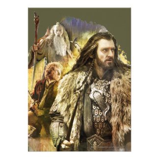 Thorin, Bilbo, Gandalf Custom Invitation
