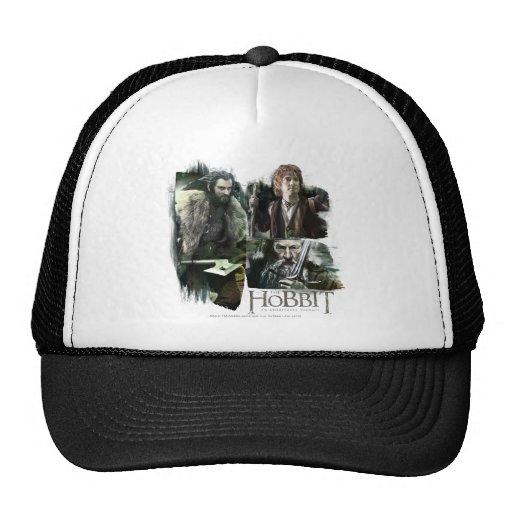 Thorin, Bilbo, y logotipo de Gandalf Gorras De Camionero