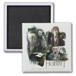 Thorin, Bilbo, y logotipo de Gandalf Iman De Nevera