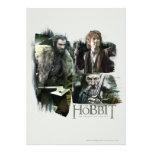 Thorin, Bilbo, y logotipo de Gandalf Invitacion Personalizada