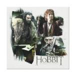 Thorin, Bilbo, y logotipo de Gandalf Lona Envuelta Para Galerias