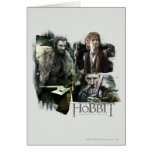 Thorin, Bilbo, y logotipo de Gandalf Tarjeta