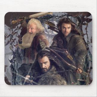 Thorin, Kili, and Balin Graphic Mouse Pad