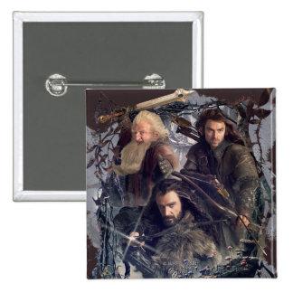 Thorin, Kili, and Balin Graphic Pinback Button