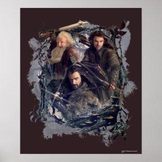 Thorin, Kili, and Balin Graphic Poster