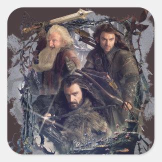 Thorin, Kili, and Balin Graphic Square Sticker