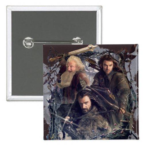 Thorin, Kili, y gráfico de Balin Pin Cuadrado