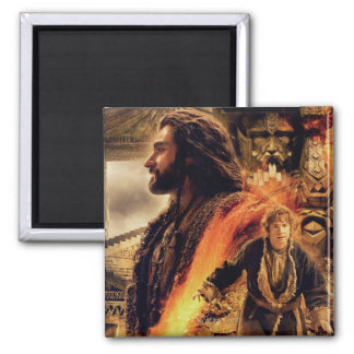 THORIN OAKENSHIELD™ and BAGGINS™ in Erebor 2 Inch Square Magnet