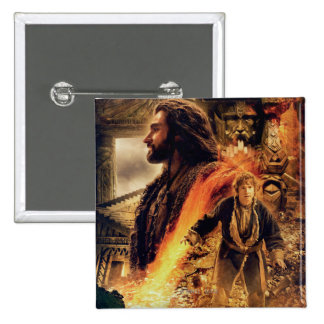 THORIN OAKENSHIELD™ and BAGGINS™ in Erebor Pinback Button