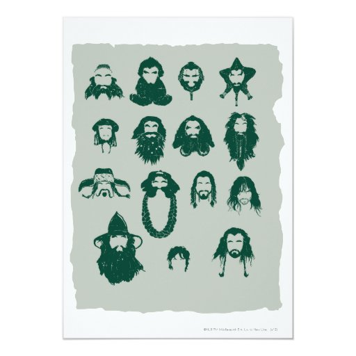 THORIN OAKENSHIELD™ and Company Hair 5x7 Paper Invitation Card