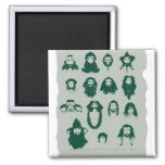 THORIN OAKENSHIELD™ and Company Hair 2 Inch Square Magnet