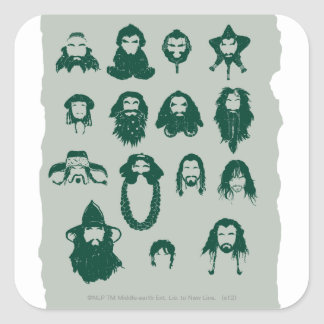 THORIN OAKENSHIELD™ and Company Hair Square Sticker