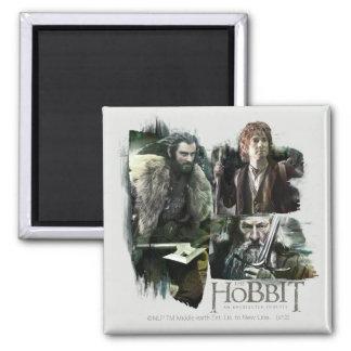 THORIN OAKENSHIELD™, BAGGINS™, and Gandalf Logo 2 Inch Square Magnet
