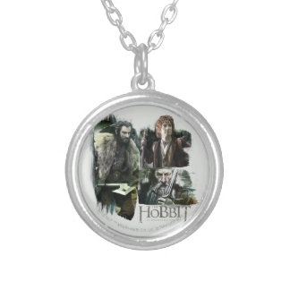 THORIN OAKENSHIELD™, BAGGINS™, and Gandalf Logo Round Pendant Necklace