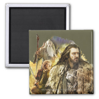 THORIN OAKENSHIELD™, BAGGINS™, Gandalf 2 Inch Square Magnet