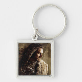 THORIN OAKENSHIELD™ Character Poster 1 Silver-Colored Square Keychain