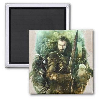 THORIN OAKENSHIELD™, Dwalin, & Balin Graphic 2 Inch Square Magnet