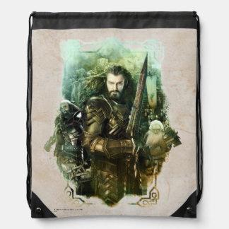 THORIN OAKENSHIELD™, Dwalin, & Balin Graphic Drawstring Backpack