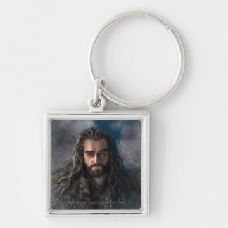 THORIN OAKENSHIELD™ Illustration Silver-Colored Square Keychain