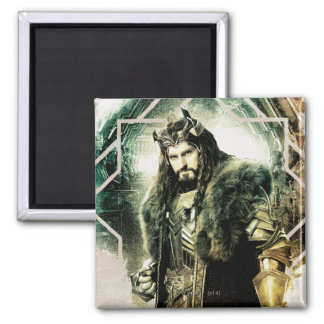 THORIN OAKENSHIELD™ - King Under The Mountain 2 Inch Square Magnet