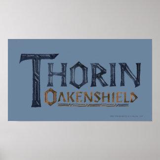 THORIN OAKENSHIELD™ Logo Blue Poster