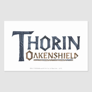 THORIN OAKENSHIELD™ Logo Blue Rectangular Sticker